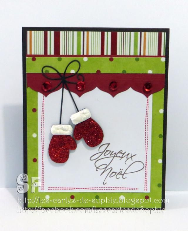 Carte noel faite la maison28 photo de carte fait main - Carte de voeux scrapbooking ...