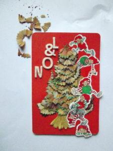 Tuto carte de voeux, Noël – 3 petits points etc