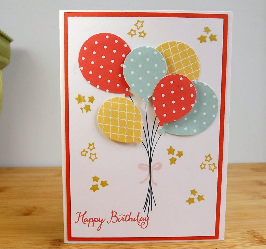 Bricolage facile faire soi m me pour une carte d anniversa photo de carte fait main - Carte d invitation anniversaire a faire soi meme gratuit ...