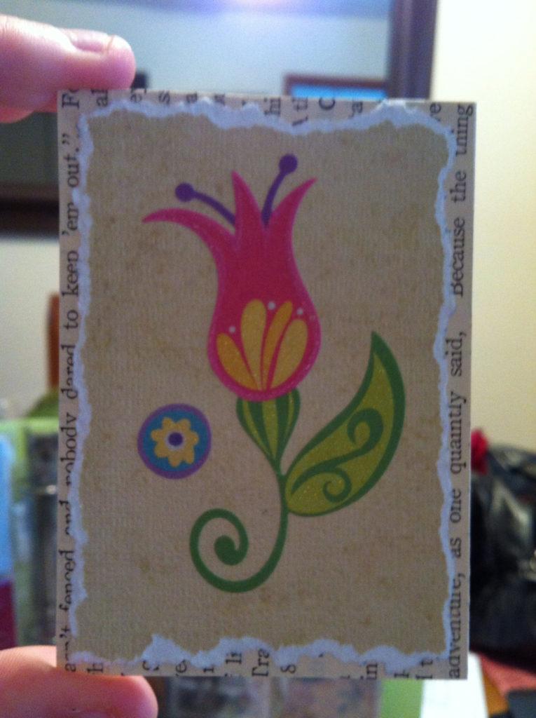 belle idée de carte fait main et fait maison par Allie 05
