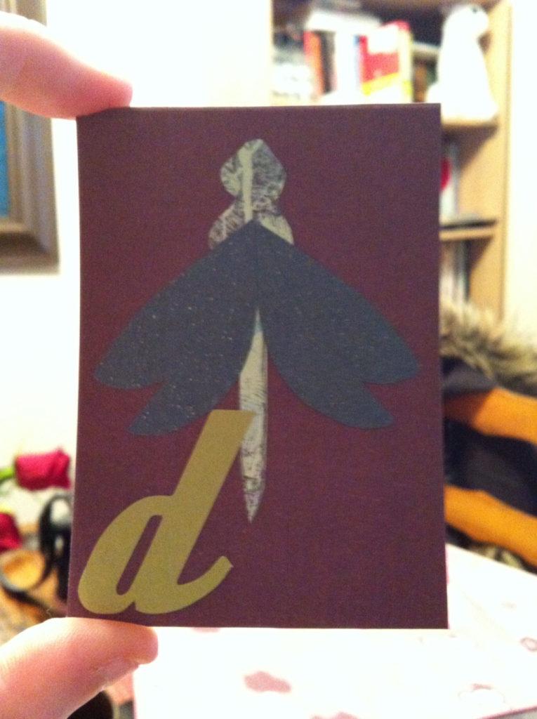 belle idée de carte fait main et fait maison par Allie 08