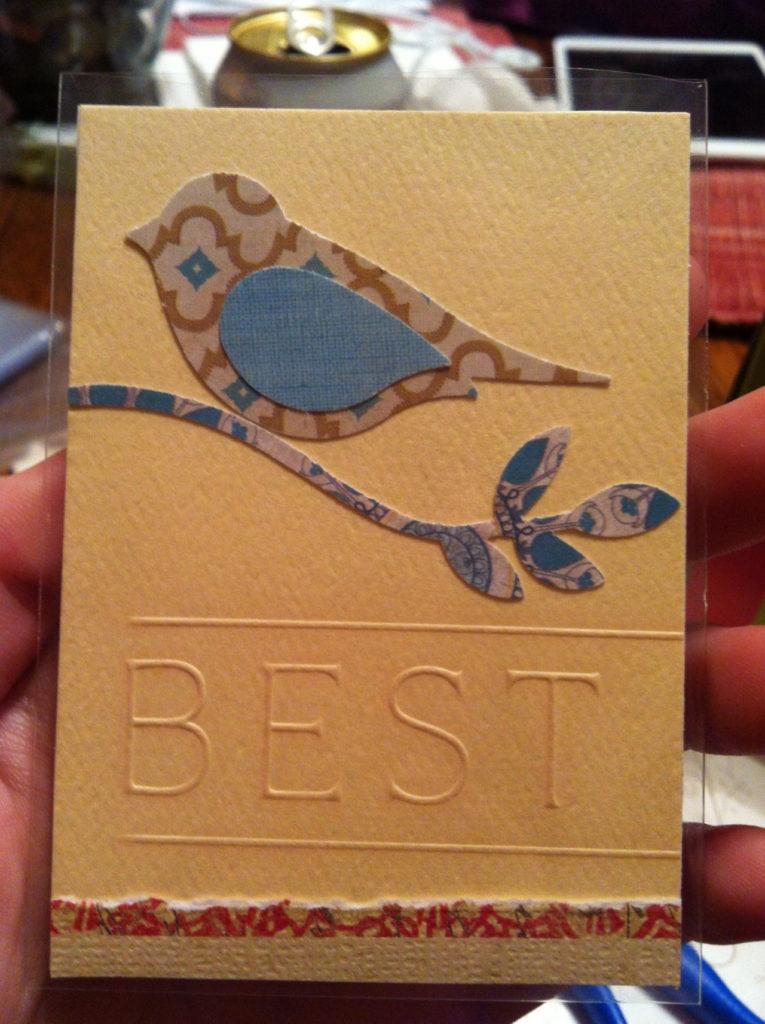 belle idée de carte fait main et fait maison par Allie 15