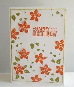 carte réalisée par Maudie pour un anniversaire numéro 14