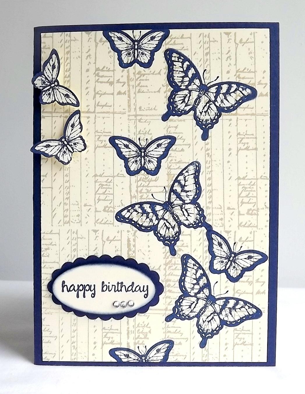 carte réalisée par Maudie pour un anniversaire numéro 19